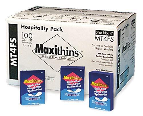 Hospeco Sanitary Napkin, 4'' Length, Package Quantity 100 - MT4FS