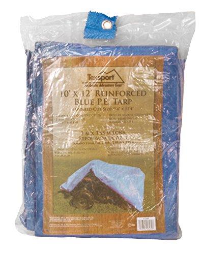 10' Polyethylene Plastic Bags - Texsport Blue Reinforced Rip-Stop Polyethylene 10' X 12' Tarp