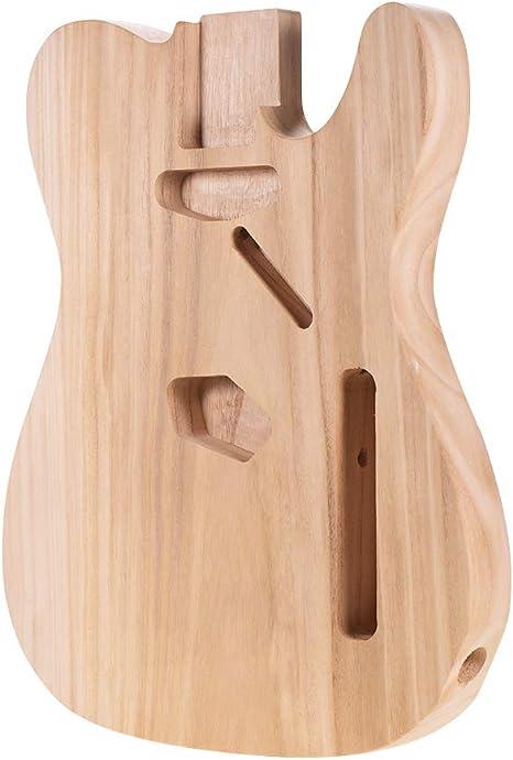 Muslady Cuerpo de Guitarra Eléctrica Sin Terminar Sycamore Madera ...