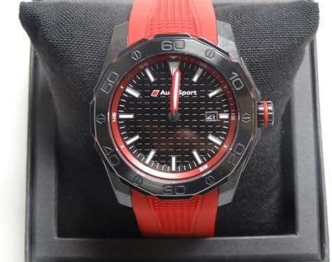 Audi Sport Gmbh 3101600801 Original Sport Watch Three Hand Chronograph Red Black Auto