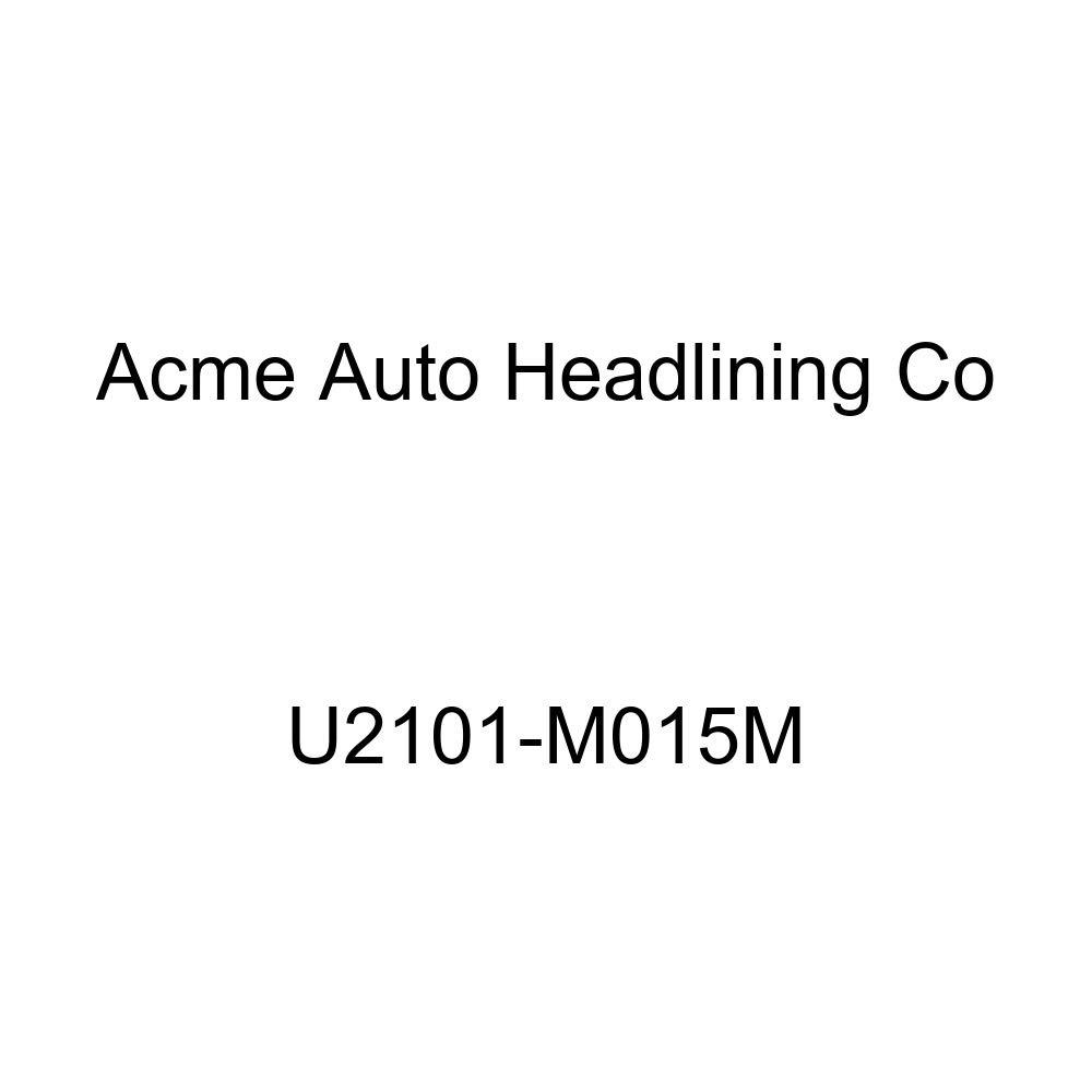Acme U2101-M015M Front Blue Velour with Medium Blue Vinyl Bench Seat Upholstery