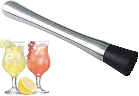 A Catering Events 8-inch Stainless Steel Cocktail Muddler: Perfect for Bars and Home Use