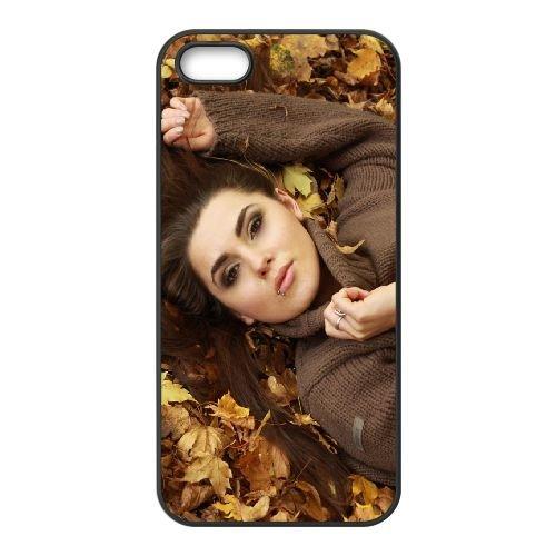 Girl Model Eyes Face Autumn 16746 coque iPhone 4 4S cellulaire cas coque de téléphone cas téléphone cellulaire noir couvercle EEEXLKNBC25374