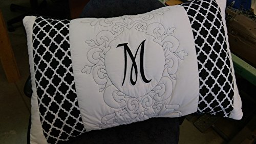 Hollywood Monogramed Pillow Sham -
