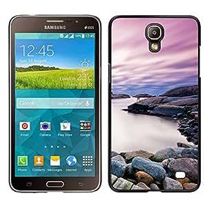// PHONE CASE GIFT // Duro Estuche protector PC Cáscara Plástico Carcasa Funda Hard Protective Case for Samsung Galaxy Mega 2 / Beautiful Rocky Shore Lake /