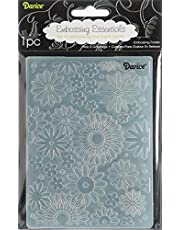 Darice Embossing Folder, 4.25 by 5.75-Inch, Flower Frenzy Background, 1 pack