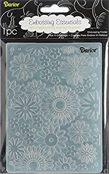 Darice Embossing Folder, 4.25 by 5.75-Inch, Flower Frenzy Background 1217-41