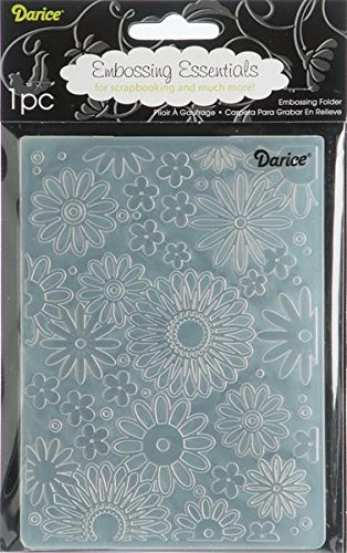 (Darice Embossing Folder, 4.25 by 5.75-Inch, Flower Frenzy Background, 1 pack)