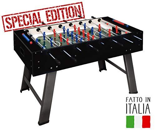 FAS Calciobalilla Smile 2.0 Black Aste Passanti - Biliardino - Special Edition