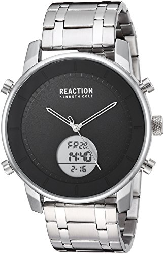 Kenneth Cole REACTION Men's Quartz Metal and Stainless Steel Casual Watch, Color:Silver-Toned (Model: RK50083008)