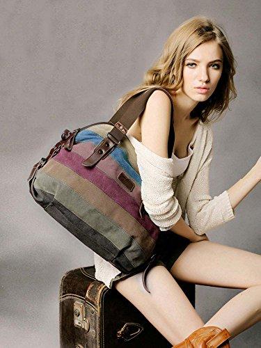 sac femme Fille Coofit sac fourre sac femme tout mian en toile Cabas a Multicolore Sac a femme main bandouliere sac Femmes vwqEgPH