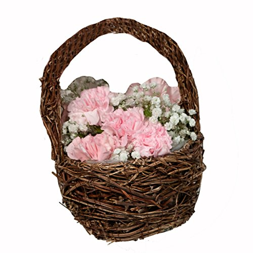 Lillian Rose FB605 Brown Rattan Flower Basket, One Size,