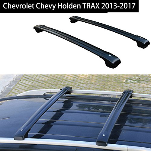 - Fit For Chevrolet Chevy Holden TRAX 2013-2017 Lockable Cross Bar Roof Racks Baggage Luggage Racks - Black