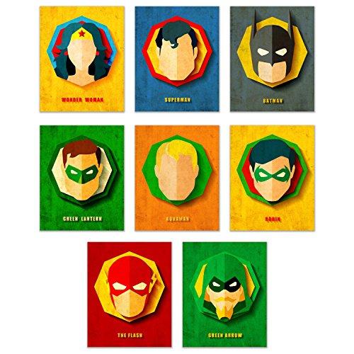 Infinity Creations DC Comics Superheros Set of 8:
