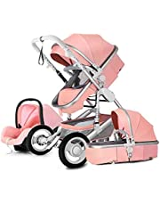 ZHANGZHIYUA Standard Baby Strollers,3 in 1 Baby Stroller Bassinet Pram Carriage Stroller,Cynebaby All Terrain Vista City Select Pushchair Stroller Compact Convertible Luxury Strollers add Foot Cover