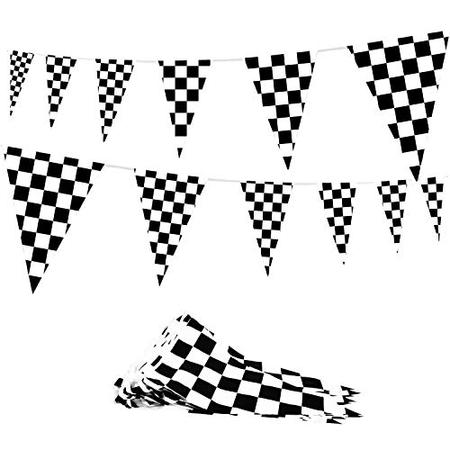 Novelty Place 100 Feet Checkered Pennant Banner - 48 Pieces 12