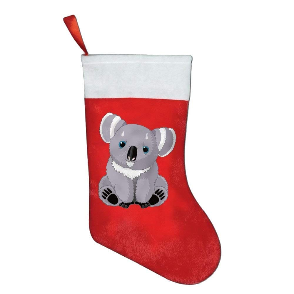 MECIKR Christmas Stockings Classic Cute Animal Koala Santa Claus Merry Christmas
