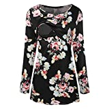 Maternity Breastfeeding Tee Nursing Tops Women Printing Long Sleeve T-shirt