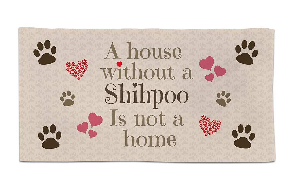 Fresh Publishing Ltd Shihpoo, Dog Breed Towel, A House Is