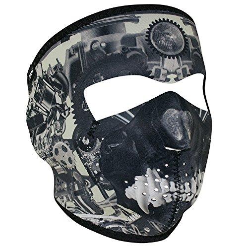 Zanheadgear Neoprene Full Face Mask, Sprocket Skull (Skull Sprocket)
