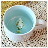 3D Cute Cartoon Miniature Animal Figurine Ceramics Coffee Cup - Baby Animal Inside, Best Office Cup & Birthday Gift (Giraffe)