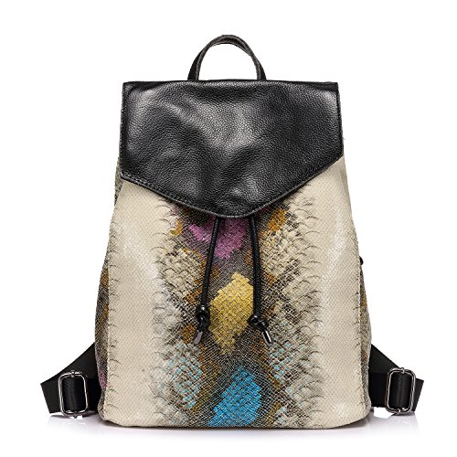 Leather Backpack Purse Drawstring Backpack Travel Bags for Girls Multicolor