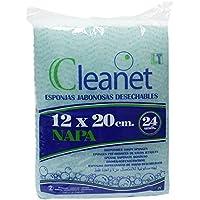 Cleanet: esponja jabonosa desechable napa 12x20cm 90grs. 20