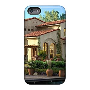 88bestcase Apple Iphone 6 Plus Durable Hard Cell-phone Case Support Personal Customs Realistic 3d House Skin [rKP1997kBKI]