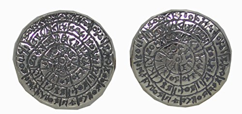 Phaistos Disk Cufflinks - Sterling Silver -Minoan Period- High Quality Item