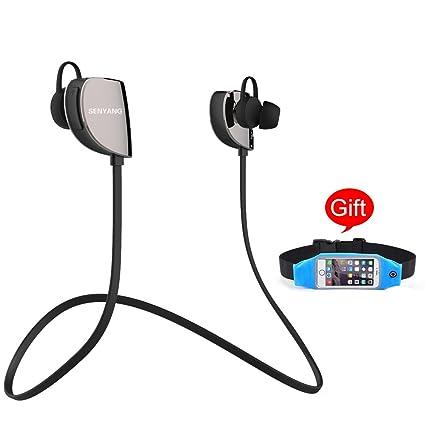 Senyang inalámbrica Bluetooth 4.1 Deportes auriculares, audífonos, auriculares cancelación de ruido, llamadas manos
