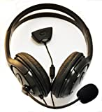 Black xbox 360 headphones headset with microphone live chat, black xbox headphones, XBox 360 Large Style Headset (Earphone & Microphone) For xBox 360 Online Gaming with Foam Ear Pieces for Comfort and Adjustable Mic Arm & Volume Control by pjp electronics®