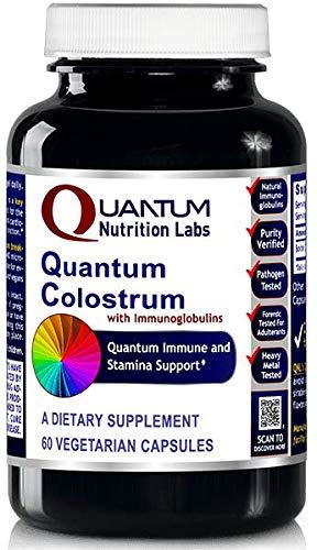 Quantum Colostrum, 120 veg caps (2 Bottles) - Pesticide-Tested Colostrum with immunoglobulins for Quantum-State Immune and Stamina Support