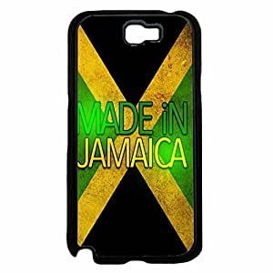 Made in Jamaica Plastic Phone Case Back Cover Samsung Galaxy Note II 2 N7100