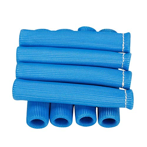 Blue 8Pcs 1200° Spark Plug Wire Boots Heat Shield Protector Sleeve SBC ()