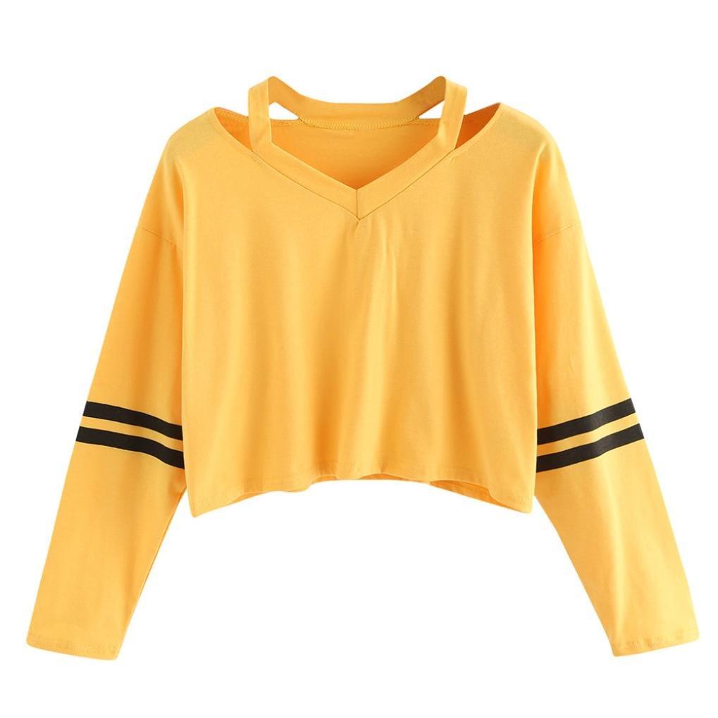 Sweatshirt Femme Imprimé, LMMVP Femmes Automne Occasionnelles Patchwork Manche Longue Sweat à Capuche Pullover Sweat-shirt Chemisier (M, Noir)