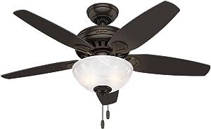 """Hunter Fan Company 52135 Hunter 44"""" Cedar Park Ceiling Fan with Light, Premier Bronze"""