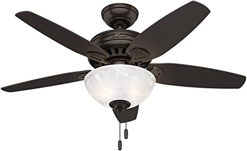 Hunter Cedar Park Indoor Ceiling Fan with Light and Pull Chain Control, 44 , Premier Bronze