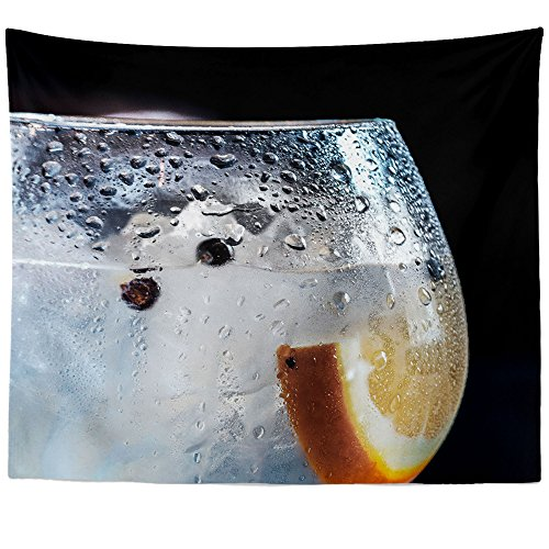 Westlake Art Wall Hanging Tapestry - Drink Glass - Photography Home Decor Living Room - - Gin Tanqueray Dry