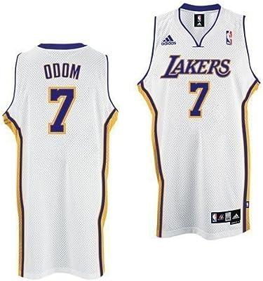 1744e77b436 Amazon.com : adidas Los Angeles Lakers #7 Lamar Odom White Swingman  Basketball Jersey (XXX-Large) : Sports Fan Basketball Jerseys : Sports &  Outdoors