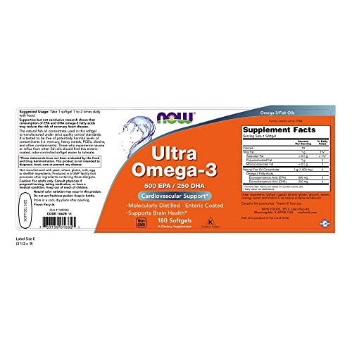 NOW Supplements, Ultra Omega-3, 180 Softgels by NOW Foods (Image #1)