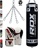 RDX Punch Bag Maya Hide Leather 4FT 5FT UNFILLED MMA Boxing Punching Gloves Muay Thai Kickboxing Training