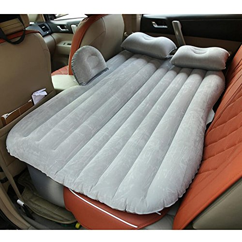 Portable Travel Camping Inflatable Mattress With Pillow Fits Most Car Models For Camping Travel And Car, Flitaing bed, Floating Bed (Gray)