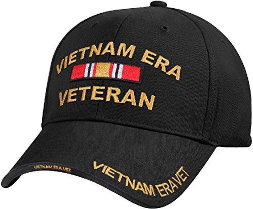 - Black US Army Vietnam Era Veteran Vet Ribbon Baseball Hat Cap