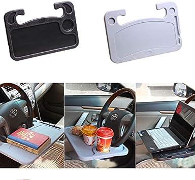 XuBa Auto Schreibtisch Laptop Computer Tisch Lenkrad Universal Essen Arbeit Kaffee Getr/änkehalter Sitzschale St/änder