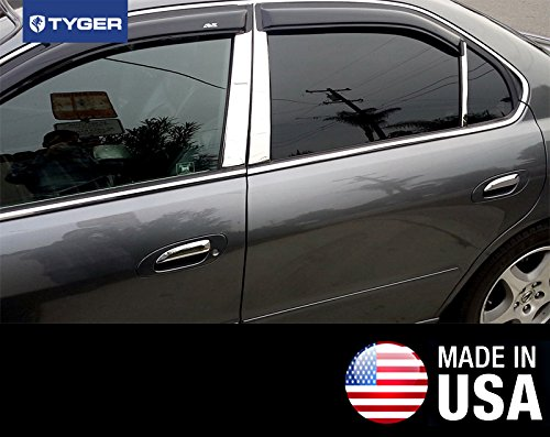 Made in USA Works With 99-03 Acura TL 6 PC Stainless Steel Chrome Pillar Post Trim