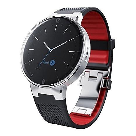 Alcatel OneTouch SmartWatch Wave negro y rojo: Amazon.es ...