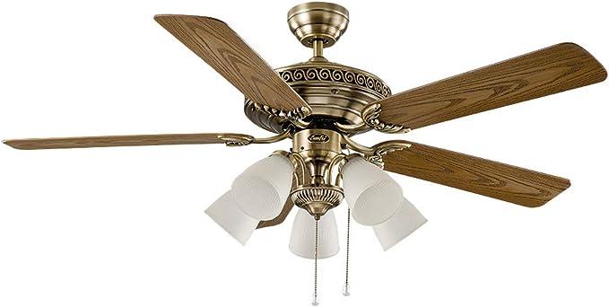 Ventilador de techo con luz CasaFan 513243 CENTURION 132 roble ...