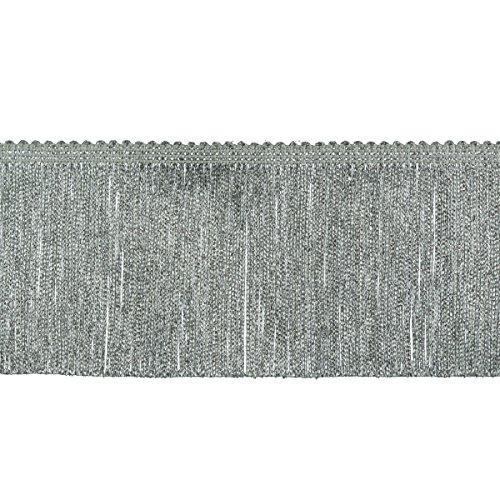 Chainette Fringe 4 Inch Width (10CM), 9-Yard Length, 100% Rayon, Metallic -
