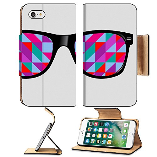 Luxlady Premium Apple iPhone 7 Flip Pu Leather Wallet Case IMAGE ID 31024439 sunglasses with abstract geometric - Sunglass Store Icon