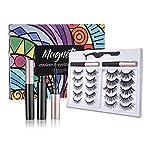 Pairs Magnetic Eyelashes with Eyeliner 5